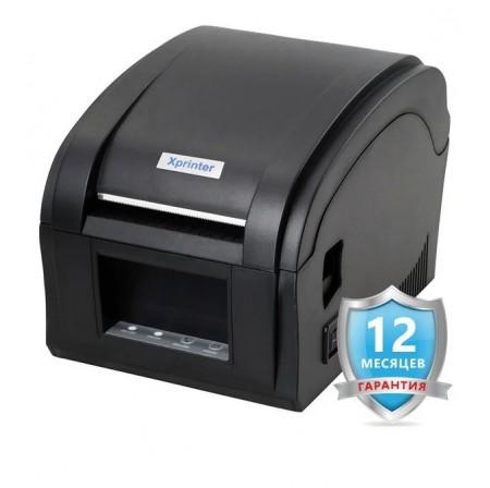 Принтер чеков JP-5890K + Беспроводной сканер штрих-кодов Alanda CT007 + Принтер печати этикеток XP-360B