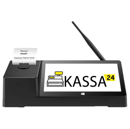 Комплекс для автоматизации торговли программа Kassa24 + POS терминал + сканер для магазинов, бутиков и т.п.
